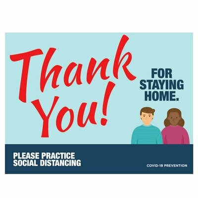 Thank You For Staying Home -full colour