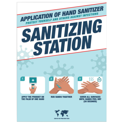 Hand Sanitizing Instructions -'Sanitizing Station'