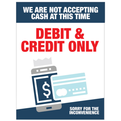Debit and Credit Only -Colour Red/Blue
