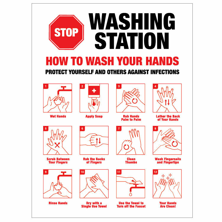 Hand Washing Station -'Stop' How to...