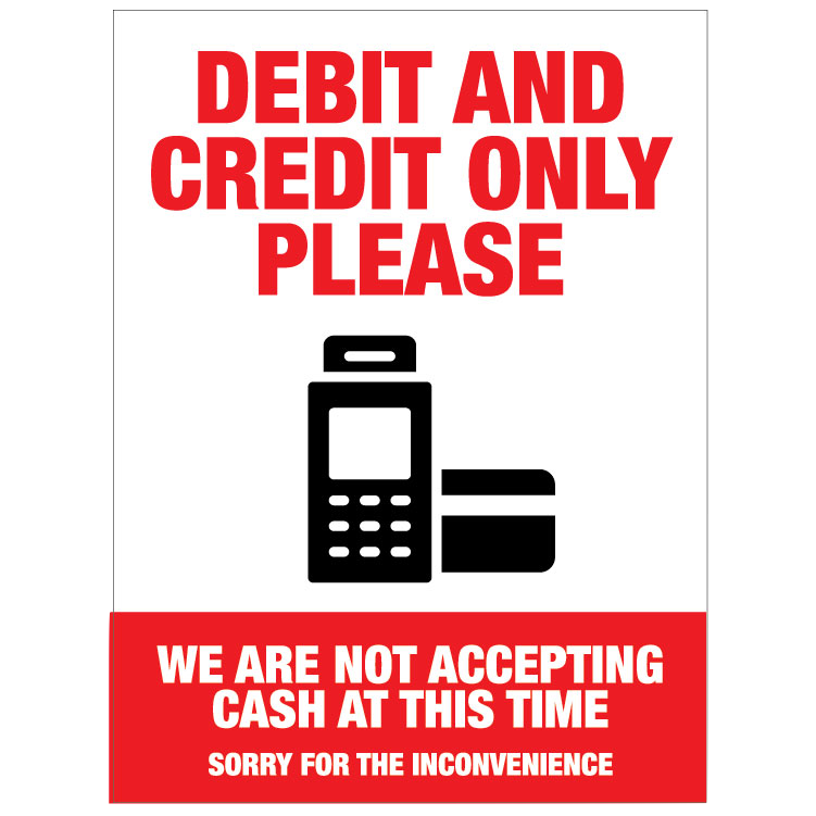Debit and Credit Only -Colour Red/Black
