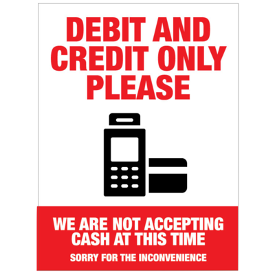 Debit Credit Only -Colour Red/Black