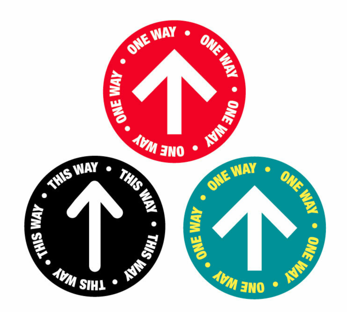 "Floor Decal -""One Way"" with Arrow"