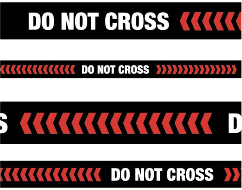 Floor Decal 'Do Not Cross' Line