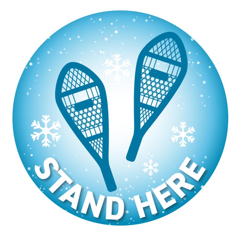 Floor Decal -Winter Blue Snowshoes