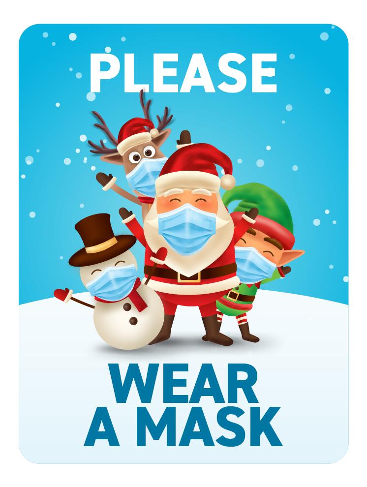 Festive Face Masks -Santa and Friends