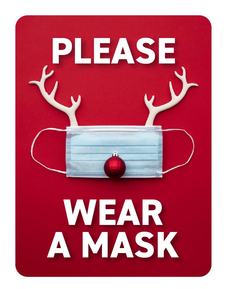 Festive Face Masks -Rudolph