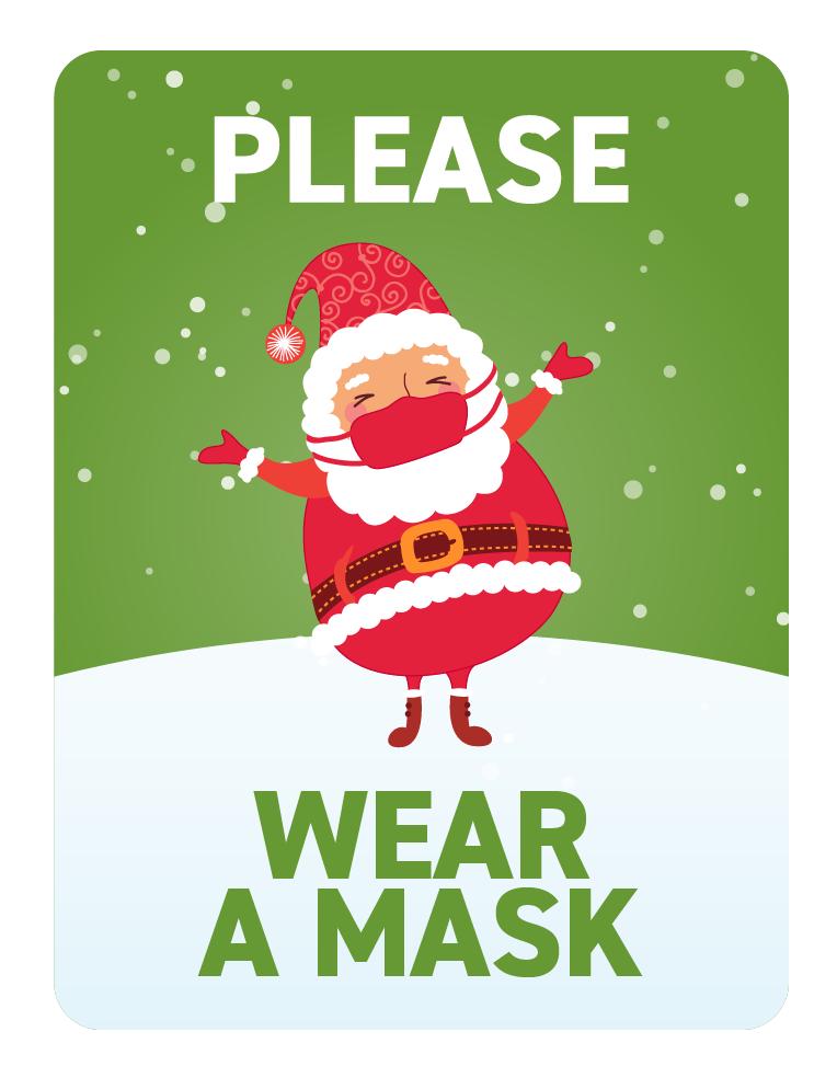 Festive Face Masks -Santa in Mask