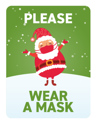 Festive Face Masks -Santa in Mask