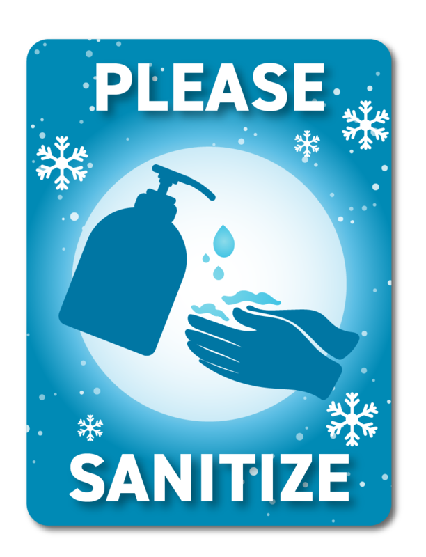 Please Sanitize -Winter Blue