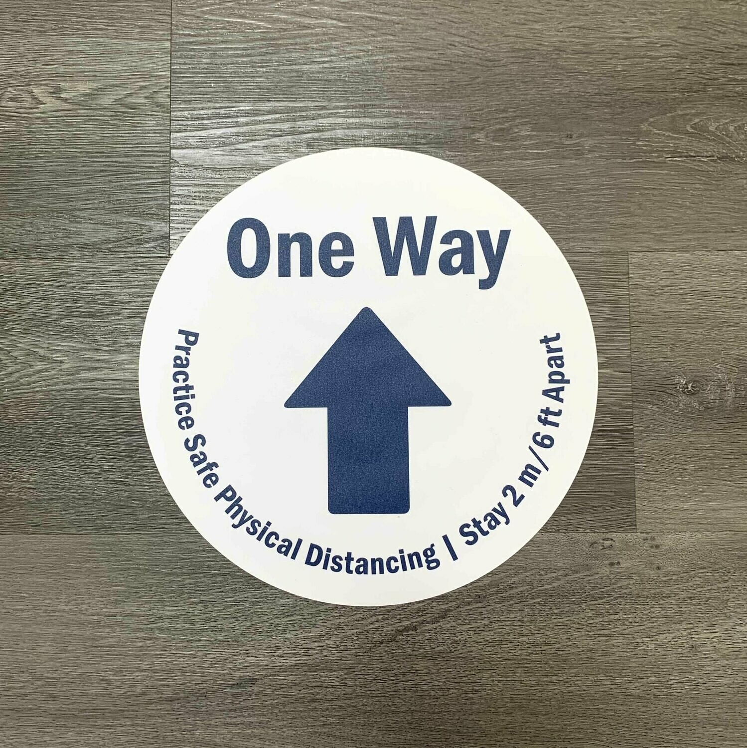 "Clearance -12"" Blue and White Directional Floor Decals"