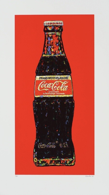 Andrei Krioukov Coca Cola Flasche in Rot