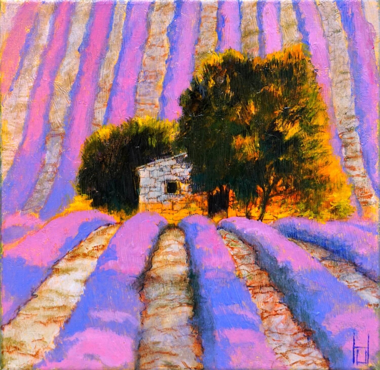 """Original Gemälde Uwe Herbst """"Lavendel in der Provence"""""""