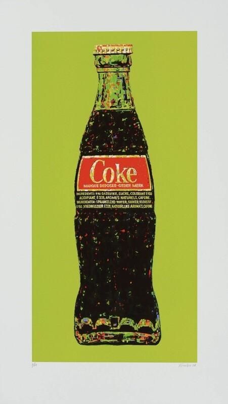 Original Grafik Andrei Krioukov Coca Cola Flasche Grün