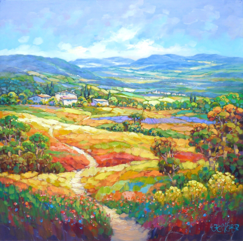 "Original Gemälde Jean-Claude Picard ""Entdeckung der Natur"""