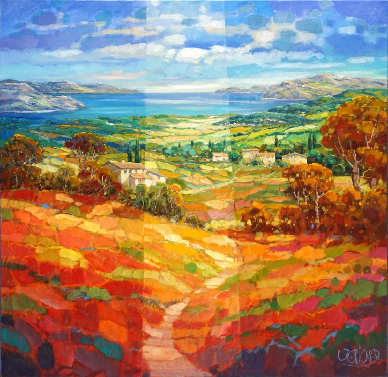 """Original Gemälde Jean-Claude Picard """"Schimmernde Meeresluft"""""""