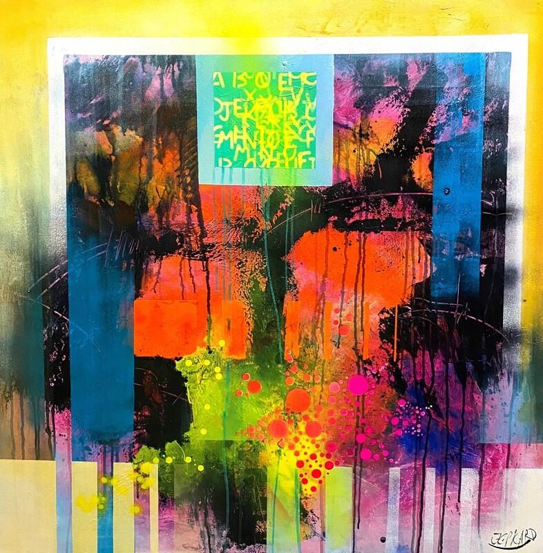 "Jean-Claude Picard ""Abstraktion der Farben III"""