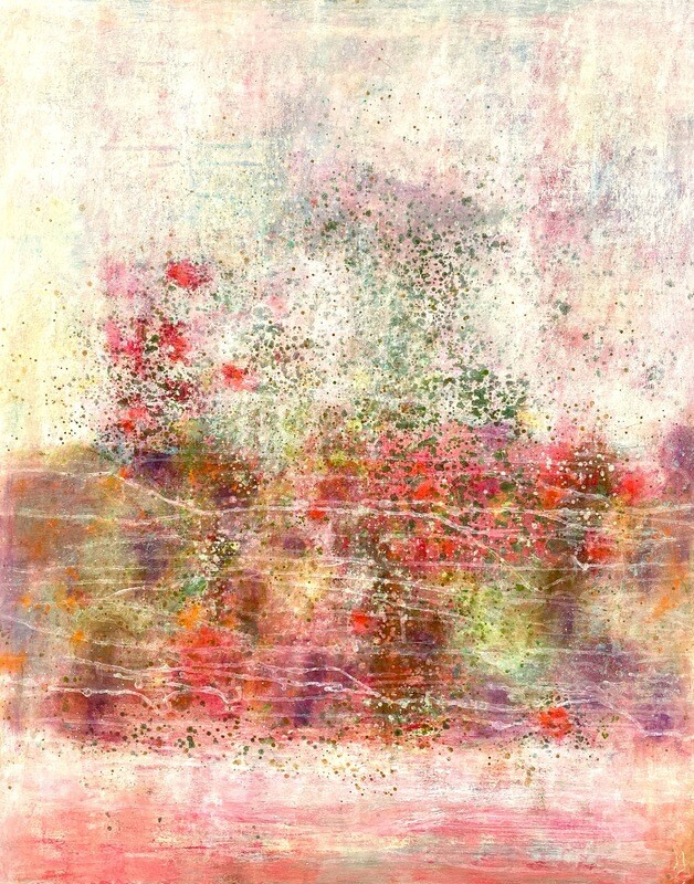 "Original Gemälde Mechthild Seck ""Rosengarten"""