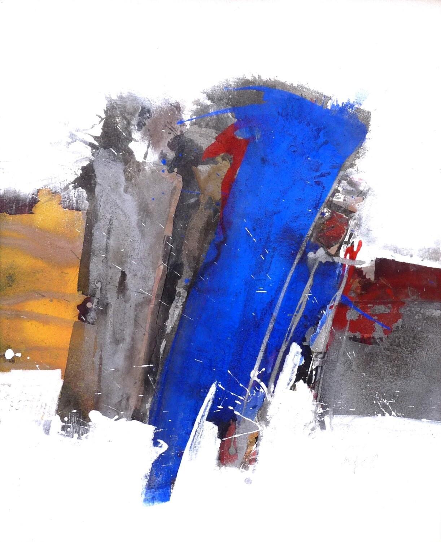 """Roger Greßl """"Farbkomposition in Blau Grau"""""""