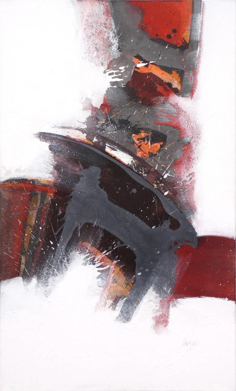 """Original Gemälde Roger Greßl """"Farbkomposition in Rot"""""""