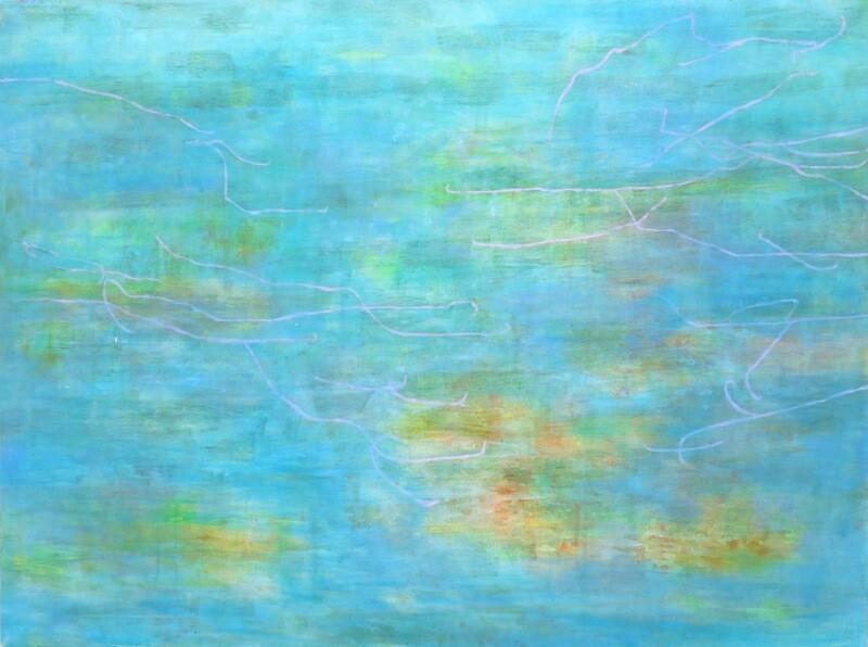 """Original Gemälde Mechthild Seck """"Frühlingssee"""""""