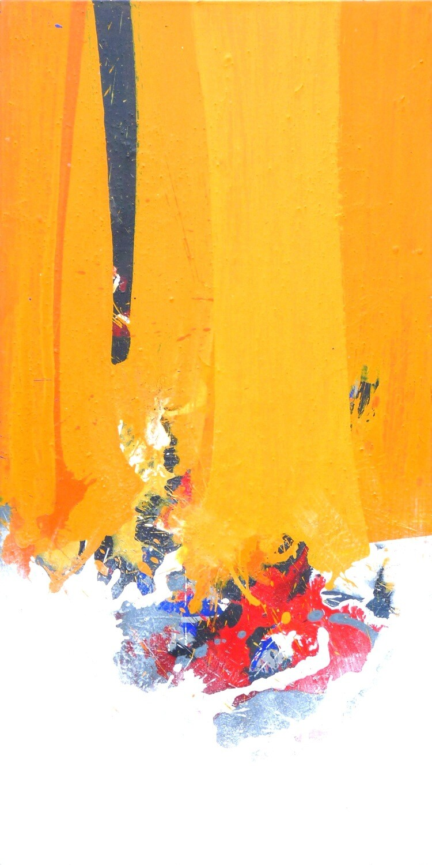 """Original Gemälde Roger Greßl """"Farbkomposition in Gelb"""""""
