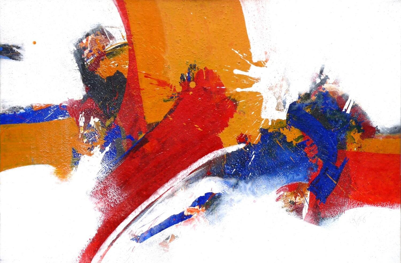 """Original Gemälde Roger Greßl """"Farbkomposition in Rot Gelb"""""""