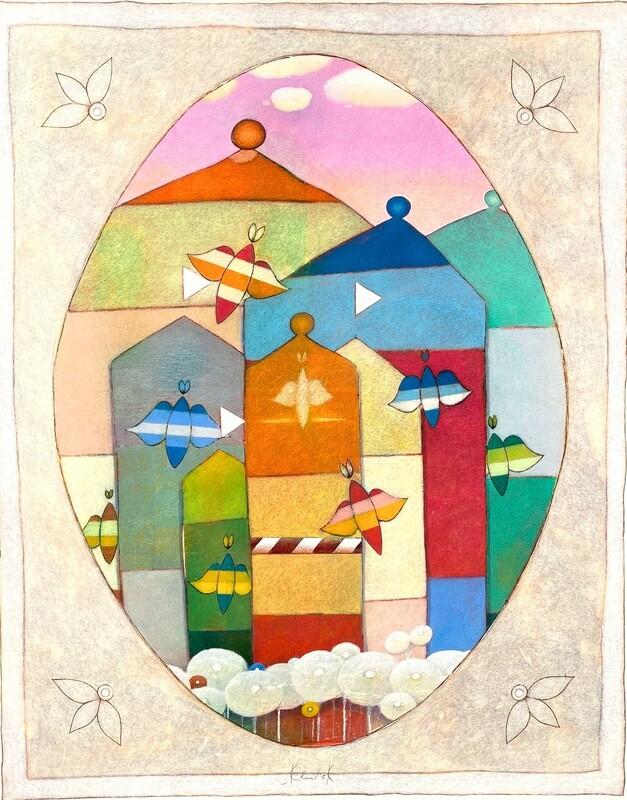 "Original Gemälde Peter Korinek ""Traumstadt"""