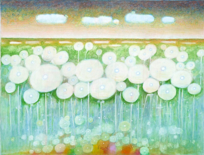 "Original Gemälde Peter Korinek ""Pusteblumenfeld"""