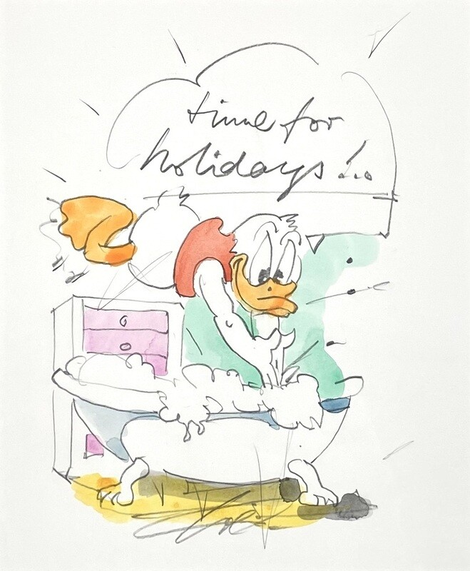 """Wolfgang Loesche Donald """"Time for holidays"""""""