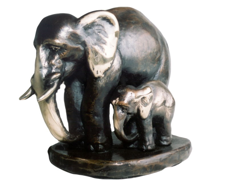 """Maximilian Delius """"Elefantengruppe"""""""