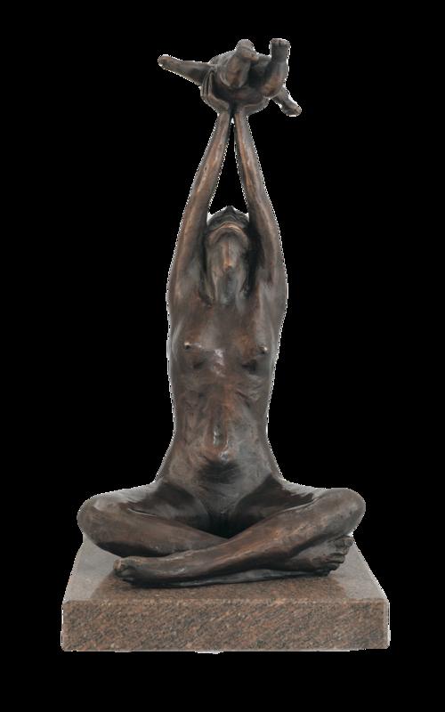 Original Bronzeplastik Maximilian Delius