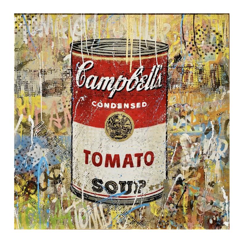 """Original Gemälde Marco Valentini """"Tomato Soup Rosso Grande"""""""