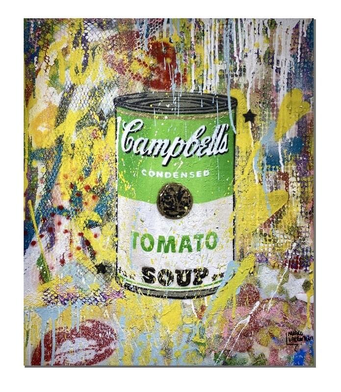 """Original Gemälde Marco Valentini """"Green Tomato Soup"""""""