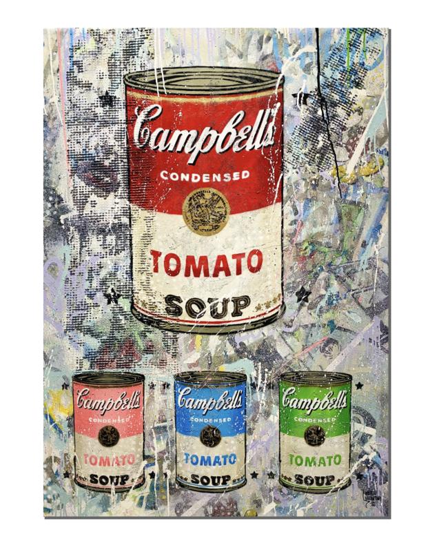 """Original Gemälde Marco Valentini """"Tomato Soup colorful"""""""