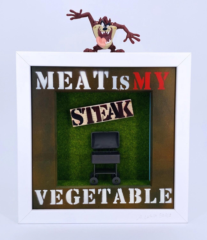 """Andreas Lichter """"Meat is my Vegetable"""" Tazmanischer Teufel gerahmt"""
