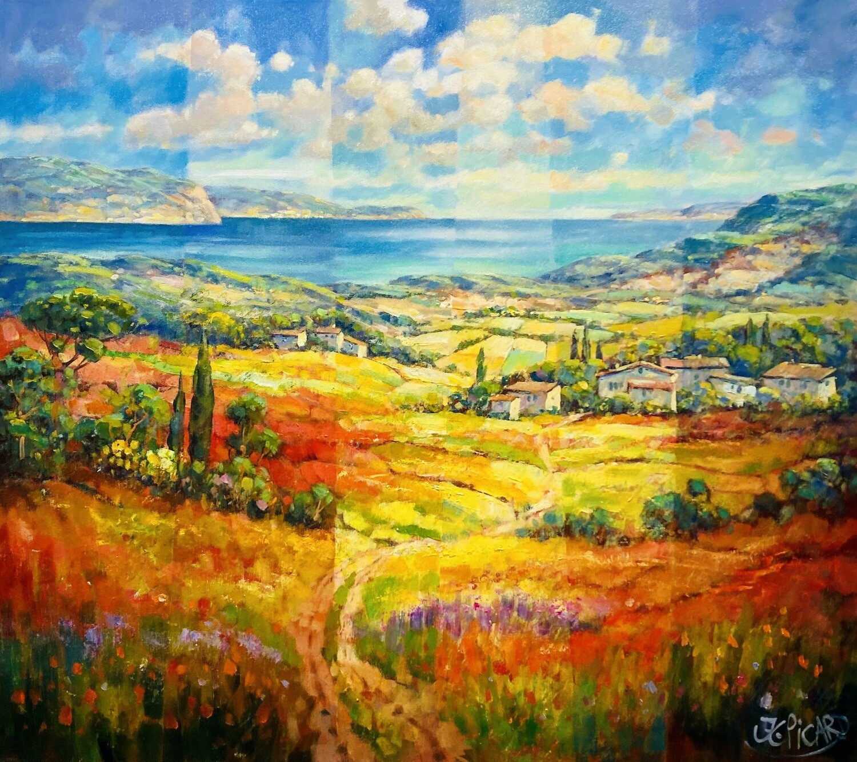 """Original Gemälde Jean-Claude Picard """"Das Tal im Spiel des Lichtes"""""""