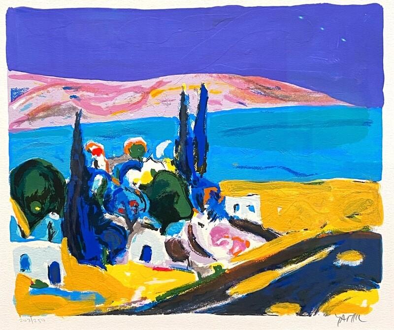 """Original Grafik Amos Yaskil """"Landschaft"""""""