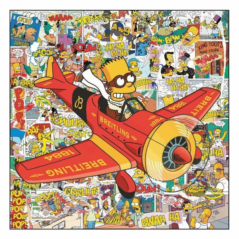 """Original Kobalt """"Bart Simpson Breitling Flug"""""""