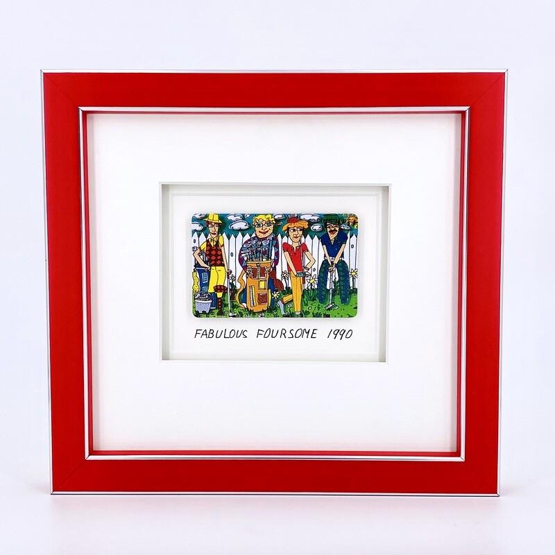 """Original James Rizzi """"Fabulous Foursome"""" gerahmt mit Museumsglas"""