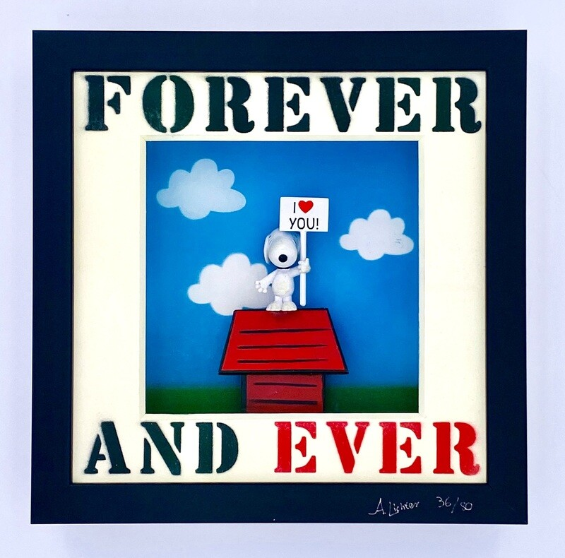 """Andreas Lichter """"Forever and ever"""" Snoopy gerahmt"""