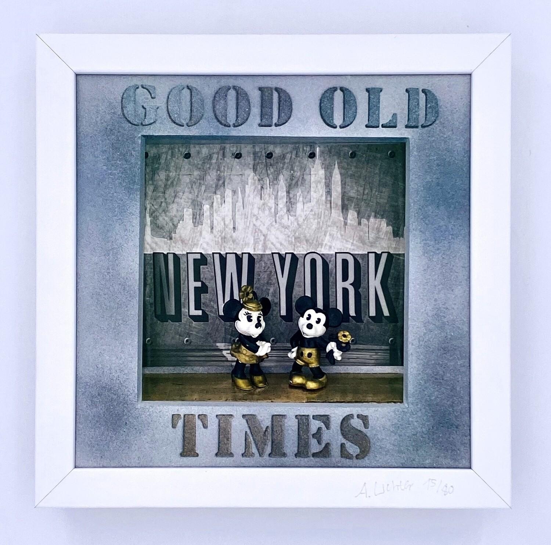 """Andreas Lichter """"Good old Times"""" gerahmt Micky und Minnie"""
