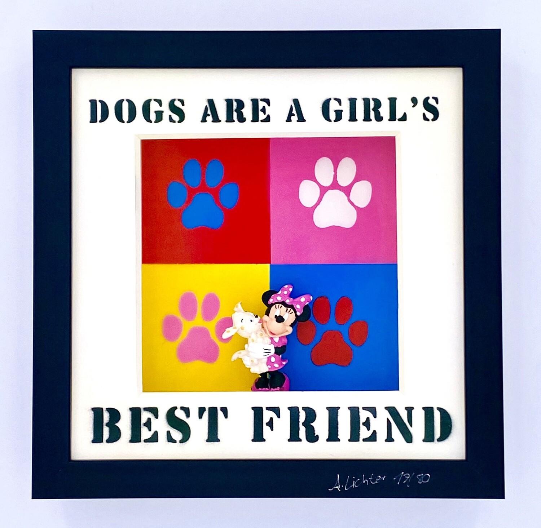 """Andreas Lichter """"Girls best friend Colorful"""" Minnie Maus gerahmt"""