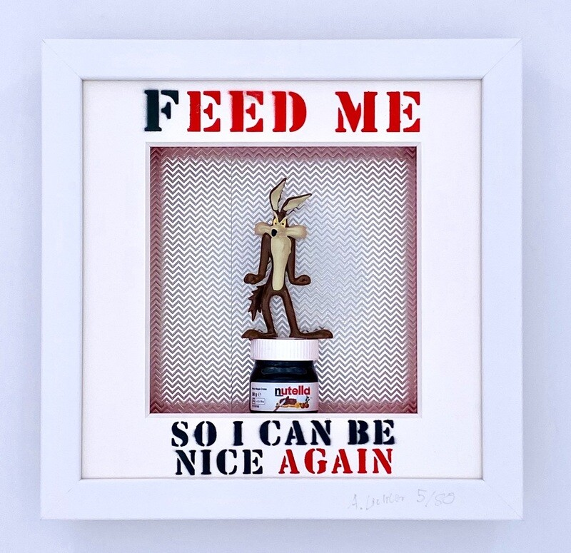 """Andreas Lichter """"Feed me"""" Wile E Coyote gerahmt"""