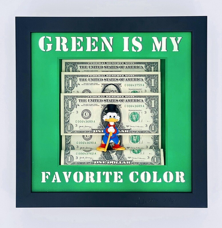 """Andreas Lichter """"Green is my favorite color"""" Dagobert Duck gerahmt"""