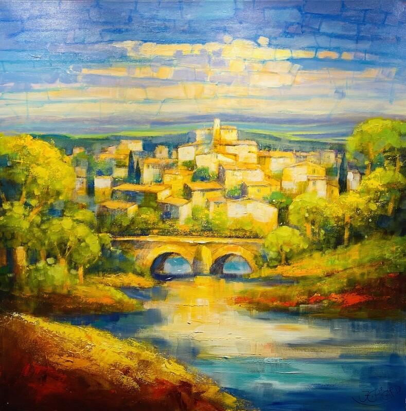 "Jean-Claude Picard ""Idyllisches Dorf in der Toskana"""