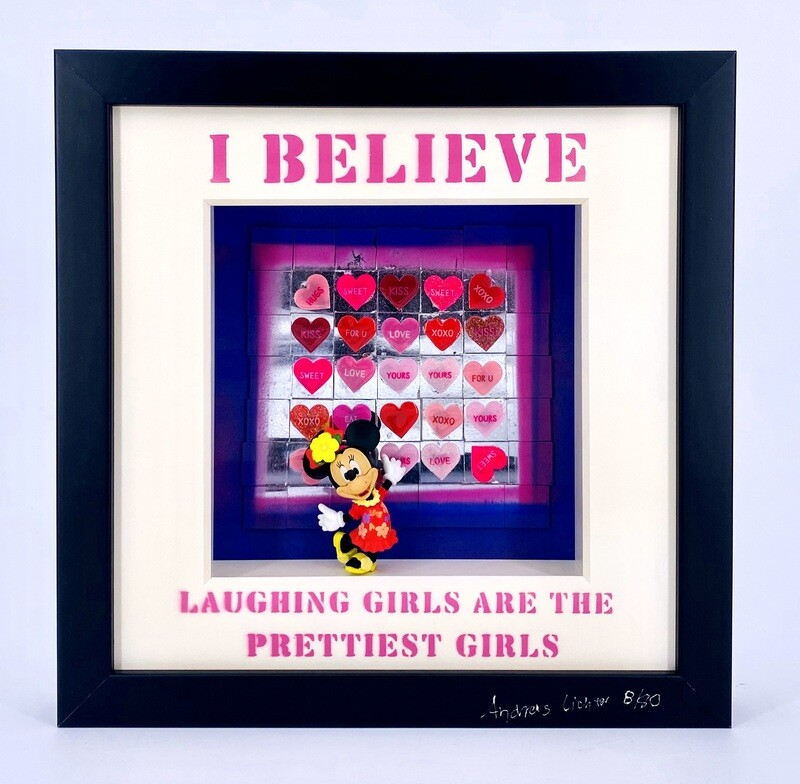 """Andreas Lichter """"I Believe laughing Girls"""" gerahmt"""