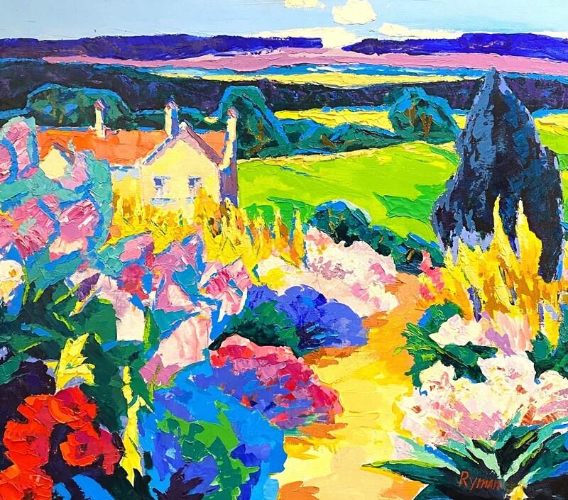 """Ewgenij Ryman """"Farbige Landschaft II"""""""