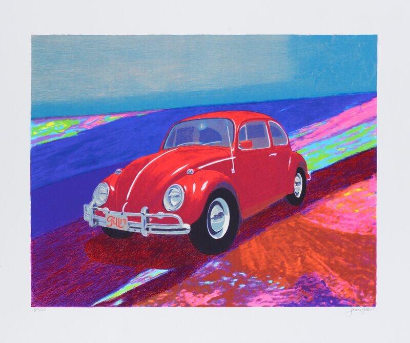 """Original Grafik James Francis Gill """"VW Blue Sky"""""""