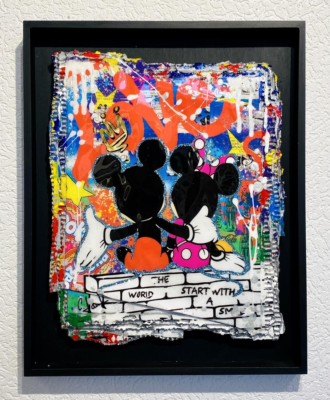 """Christiane Janßen """"Be together"""" Mickey und Minnie"""